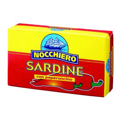 NOCCHIERO SARDINE GR.125 PICCANTI OLIO DI GIRASOLE