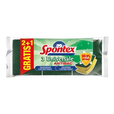 SPONTEX SPUGN.ABRASIVA UNIVERSALE SALVA UNGHIE 2+1