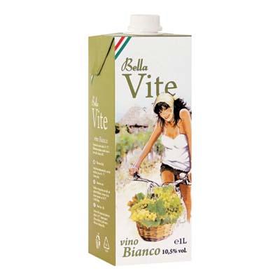 BELLAVITE VINO BIANCO BRICK LT.1 VOL.10,50�