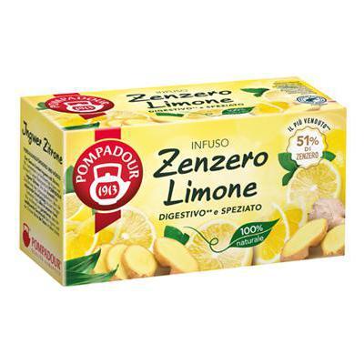 POMPADOUR INFUSO ZENZERO E LIMONE X20