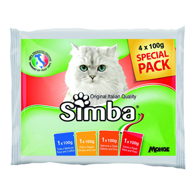 SIMBA GATTO MULTIPACK BUSTE GR.100X4