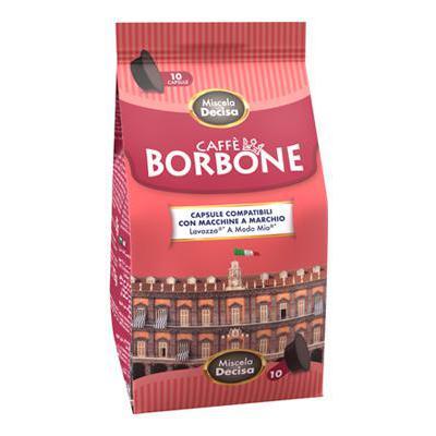 CAFFE'BORBONE CAPSULE X10 NERA(DECISA) COMPATIBILI A MODO MI