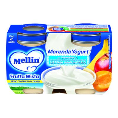 MELLIN MERENDA YOGURT+FRUTTA MISTA GR.120X2