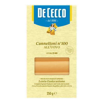DE CECCO CANNELLONI UOVO GR.250 N.100