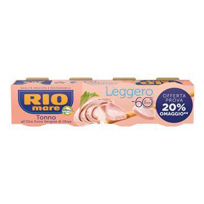 RIO MARE TONNO LEGGERO GR.60X4