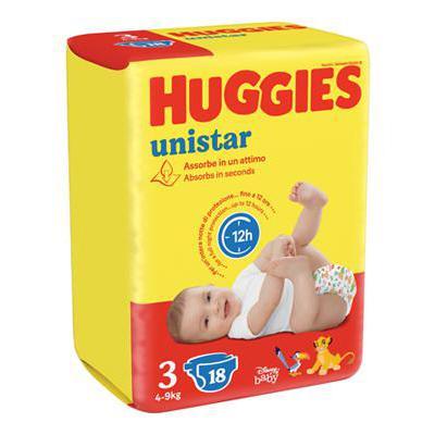 HUGGIES UNISTAR MIDI TG.3 20 PZ KG.4-9