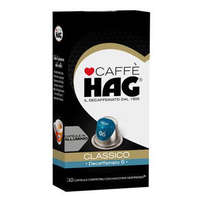 HAG DECAFFEINATO CAPS X 10  COMPATIBILI NESPRESSO
