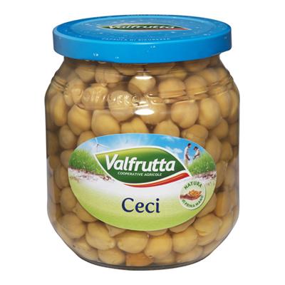 VALFRUTTA CECI GR.580 VETRO