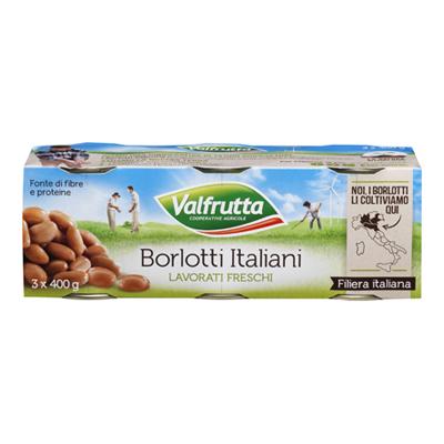 VALFRUTTA BORLOTTI GR.400X3