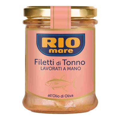 RIO MARE FILETTI TONNO GR.180VETRO O.O.