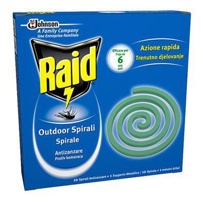 RAID SPIRALI ANTIZANZARE X 10