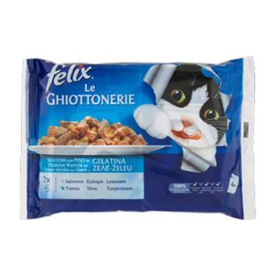 FELIX GHIOTTONERIE SALMONE&TONNO GR.100X4