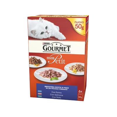 GOURMET MONPETIT GR.50X6 TONNO/SALMONE/TROTA
