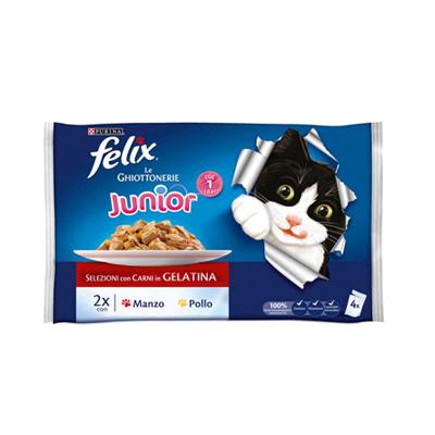 FELIX GHIOTTONERIE JUNIOR GR.100X4 MANZO/POLLO