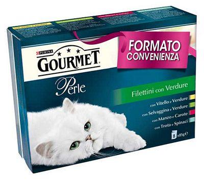 GOURMET PERLE FILETTINI GR.85X8 VERDURE