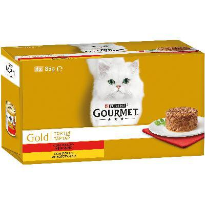 GOURMET GOLD TORTINI MANZO&POLLO GR.85X4