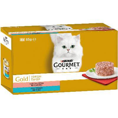 GOURMET GOLD TORTINI TONNO&SALMONE GR.85X4