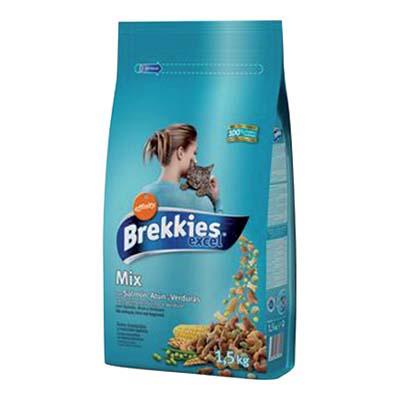 BREKKIES GATTO CROCCANTINI KG.1,5 MIX PESCE