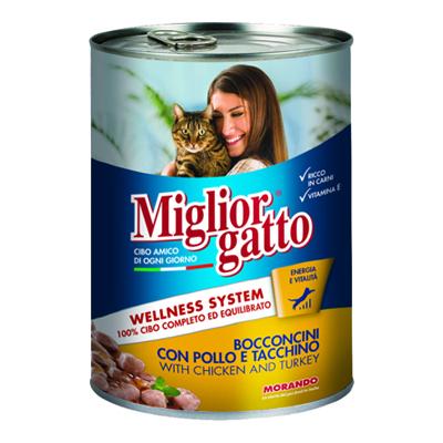 MIGLIOR GATTO BOCCONCINI GR.405 POLLO/TACCHINO