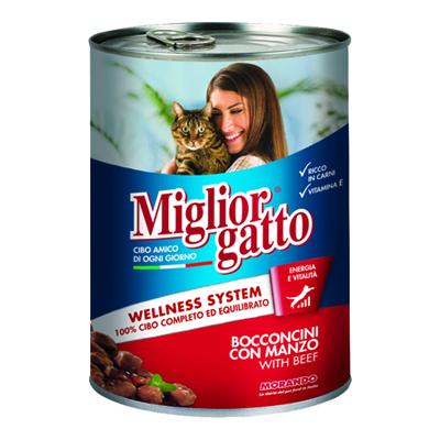 MIGLIOR GATTO BOCCONCINI GR.405 MANZO