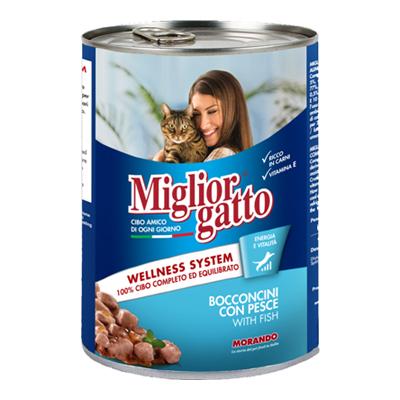 MIGLIOR GATTO BOCCONCINI GR.405 PESCE