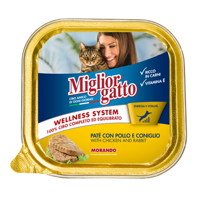 MIGLIOR GATTO VASCHETTA GR.100POLLO/CONIGLIO