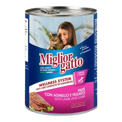 MIGLIOR GATTO PATE'GR.400 AGNELLO/FEGATO