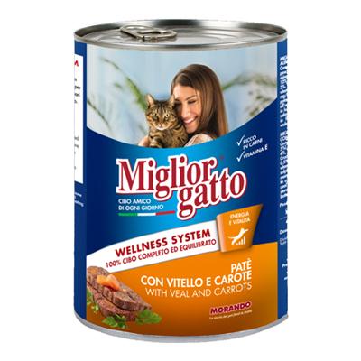 MIGLIOR GATTO PATE'GR.400 VITELLO/CAROTE
