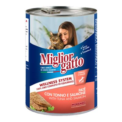 MIGLIOR GATTO PATE'GR.400 TONNO/SALMONE
