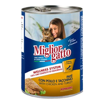 MIGLIOR GATTO PATE'GR.400 POLLO/TACCHINO
