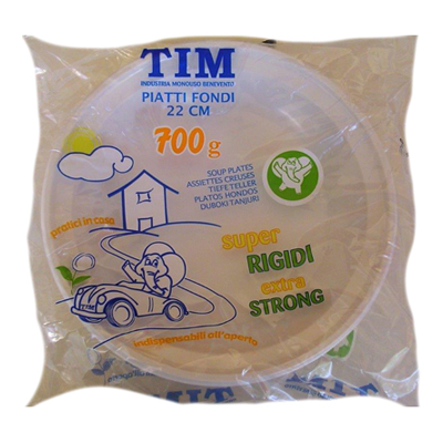 TIM PIATTI FONDI BIANCHI DIAM.22 GR.700