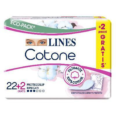LINES COTONE PROTEGGISLIP RIPIEGATO X22