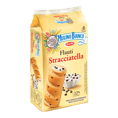 MULINO BIANCO FLAUTI STRACCIATELLA X 8