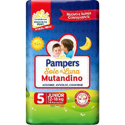PAMPERS SOLE & LUNA MUTANDINOJUNIOR 12-18 KG X14