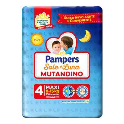 PAMPERS SOLE & LUNA MUTANDINOMAXI 8-15 KG X15