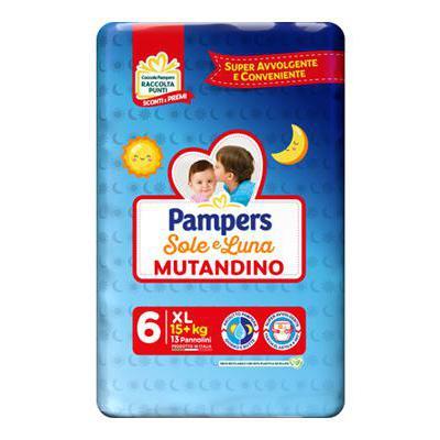 PAMPERS SOLE & LUNA MUTANDINOXL 15+KG X13