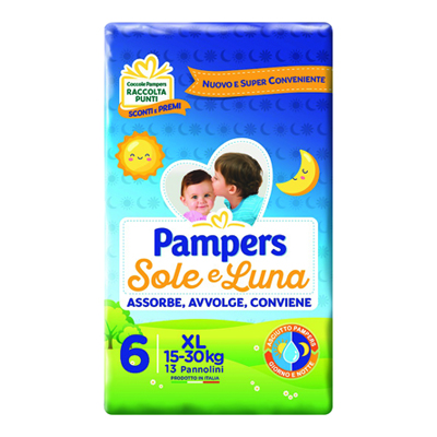 PAMPERS SOLE E LUNA EXTRA LARGE X 13