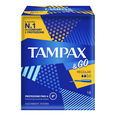 TAMPAX & GO REGULAR X18