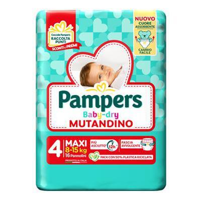 PAMPERS BABY DRY MUTANDINO MAXI X16 8-15 KG