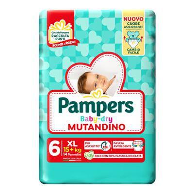 PAMPERS BABY DRY MUTANDINO XLX14 15+KG