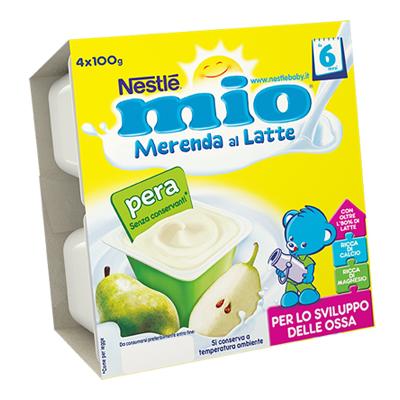 NESTLE MIO MERENDA LATTE/PERAGR.100X4
