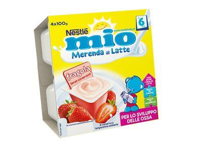 NESTLE MIO MERENDA LATTE/FRAGOLA GR.100X4