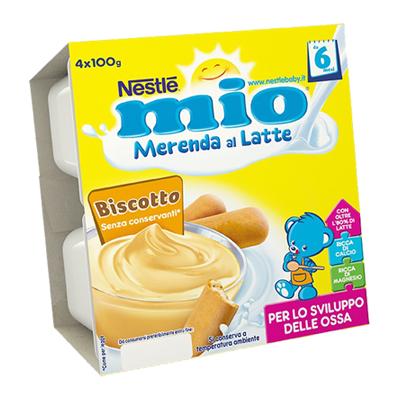 NESTLE MIO MERENDA LATTE/BISCOTTI GR.100X4