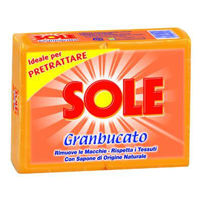 SOLE SAPONE GIALLO GR.250X2