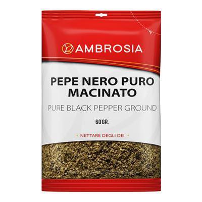 AMBROSIA BUSTA GR.60 PEPE NEROPURO MACINATO