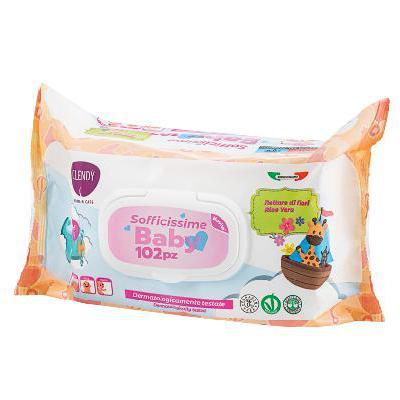 CLENDY SALVIETTINE BABY ALOE /NETTARE FIORI 102  PEZZI CUDD