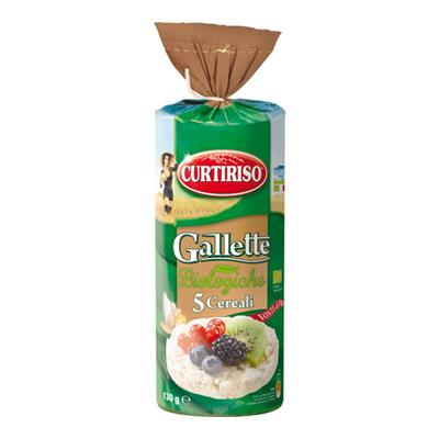 CURTI RISO GALLETTE 5 CEREALIGR.130