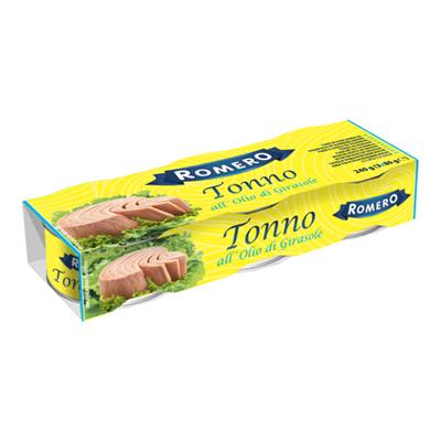 ROMERO TONNO OLIO SEMI DI GIRASOLE GR.80X3