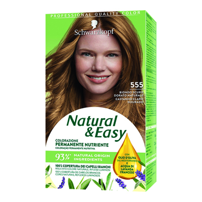 NATURAL & EASY 555 BIONDO SCURO DORATO