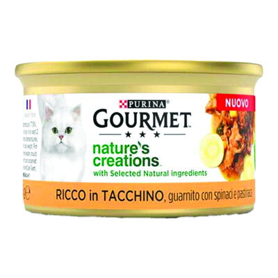 GOURMET NATURE'S CREATIONS TACCHINO GR.85
